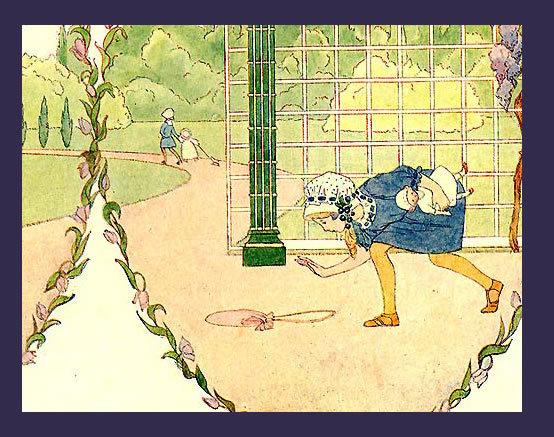 Sweet SAIDA 1911 Antique Lucky LUCY LOCKET Print