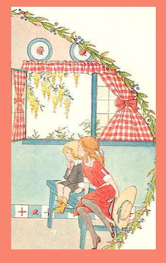 SAIDA YUMMY Antique PAT A CAKE 1911 Kid's Song Print