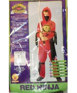 Rubies Red Ninja Costume boy size M medium 8-10 Halloween warrior - $17.77