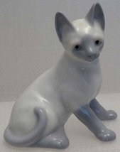 Seated 1950s Sweet Porcelain Blue Siamese Kitten  image 2