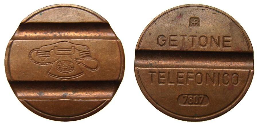 ITALIAN TELEPHONE TOKEN Old Unique Copper Telefonico Telephone Gettone jetton