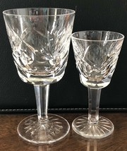 """Waterford Crystal Cordial and Port Wine, Ashling Pattern, Signed, 4 3/8"""", 31/2"""" - $62.97"""
