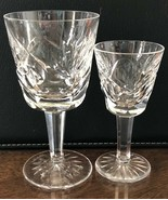 """Waterford Crystal Cordial and Port Wine, Ashling Pattern, Signed, 4 3/8""""... - $62.97"""