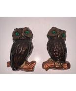 """Vintage Pair Of Owl Wall Hangers 11"""" - $10.00"""