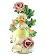 Geo Z Lefton August birthday month 985 dancing girl flowers figurine - $30.00