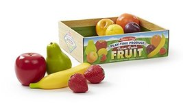 Melissa & Doug Playtime Produce Fruits Play Food Set With Crate (9 pcs) - $18.67