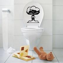 Vinyl Mushroom Cloud Toilet Seat Wall Sticker Bathroom Decal - $18.05
