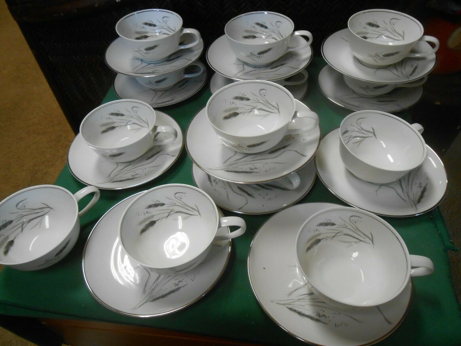 "Primary image for ROSENTHAL Selb-Plossberg Bavaria Germany ""Wheat"" .12 CUPS & SAUCERS & 1 FREE Cup"