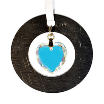 Small Aluminum and Crystal Circle Ornament - Disc image 1