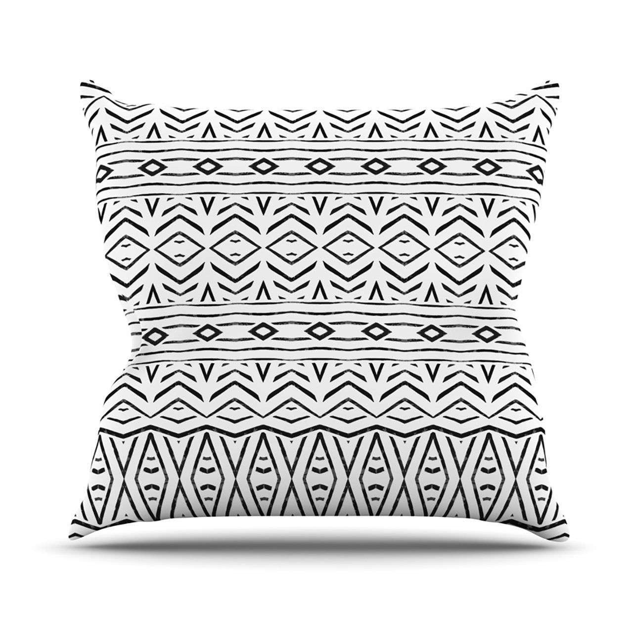"Kess InHouse Pom Graphic Design ""Tambourine"" Outdoor Throw Pillow, 16 by 16-Inch"