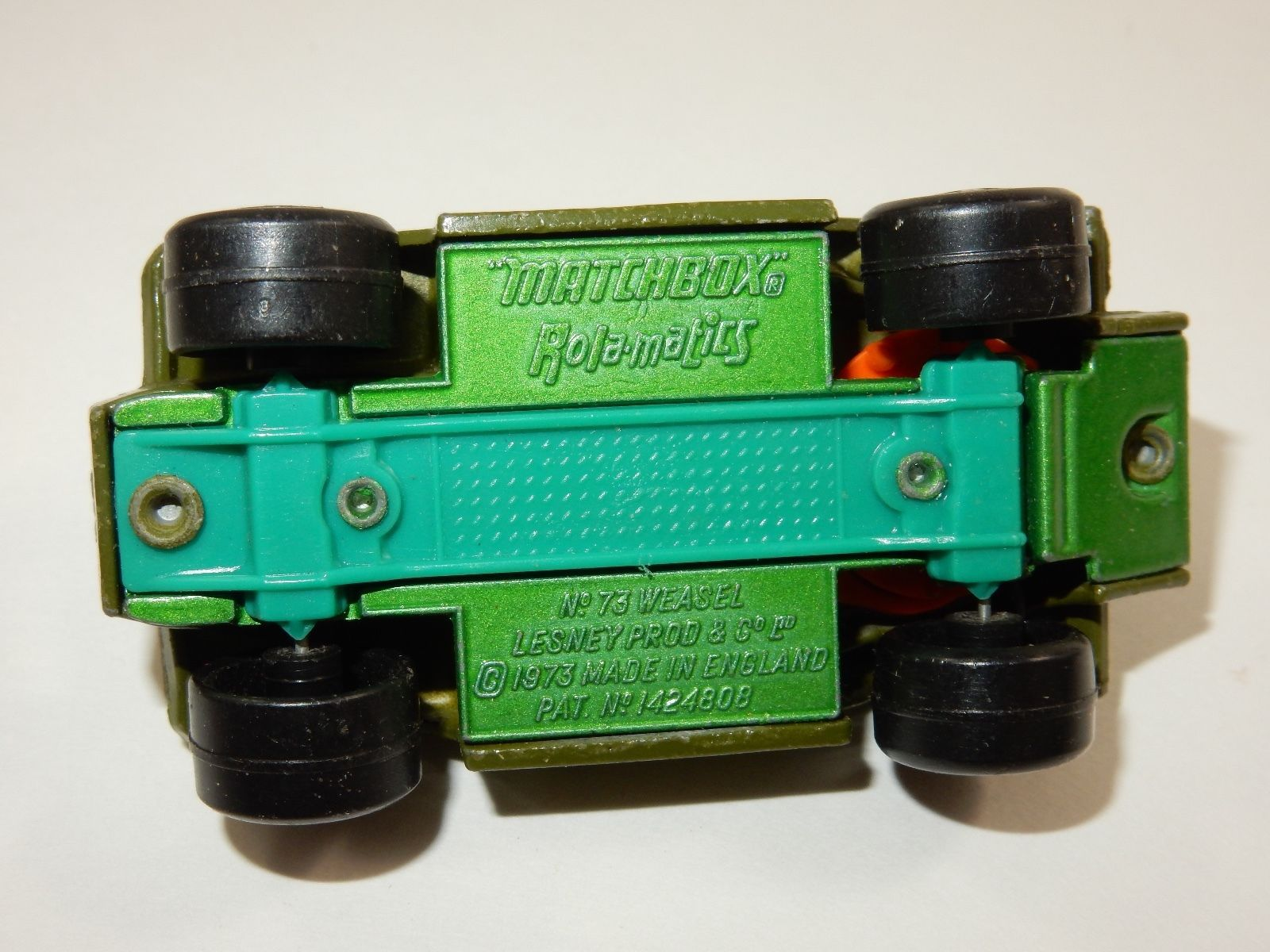 Lesney Matchbox 1973 Rolamatics No 73 Weasel Diecast Car ~ Made in England