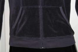 Juicy Couture Original Velour Hoodie Hearth JGMU0001 Track Jacket Purple... - $11.30