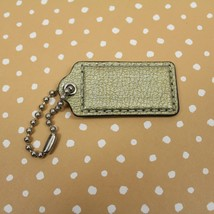 """Coach Gold Patent Pebbled Leather Hang Tag Replacement Fob 2.5 """" Silver ... - $16.82"""