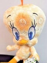 "Looney Tunes Tweety Bird Orange Floral Plush Toy 8"" Official Nanco Age 3... - $14.47"