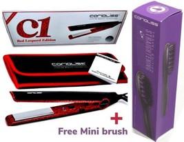 Corioliss C1 Red Leopard Flat Iron Hair Straightener + hair Straightener... - $89.00