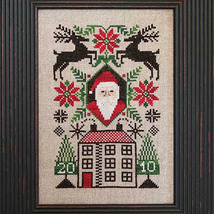 FULL KIT 2010 Santa Limited Edition cross stitch kit Prairie Schooler  - $23.50