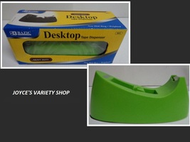 Bazic Tape Dispenser NIB Desktop Heavy Duty Lime Green - $14.99