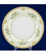 Meito Calais Hand Painted 10-Inch Dinner Plate Fine China Japan Cream Gr... - $12.00
