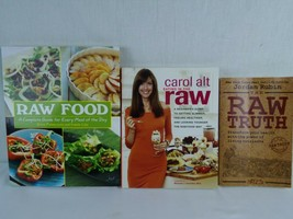 Raw Food Book Cookbook Lot of 3 Raw Truth Complete Guide Paperback - $18.99