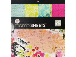MAMBI Specialty Cardstock 12x12 with Foil, Glitter, UV Coating #6311