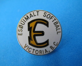 Esquimalt SOFTBALL Lapel Pin Tie Tac Pin Hat Pin SOUVENIR Collector VICT... - $6.95