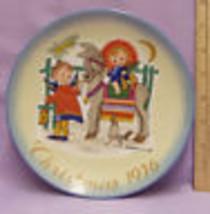 Vintage 1976 Schmid Berta Hummel Christmas Plate Sacred Journey West Germany - $15.04