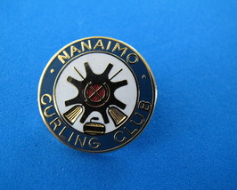 Nanaimo BC. CURLING Lapel Pin Tie Tac Pin Hat Pin SOUVENIR Collector CLUB  - $6.95