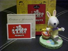 Hallmark Peanuts Gallery Easter Beagle Figurine Mint With Box 1st Edition - $49.49