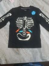2T Carters Glow In The Dark Bones Long Sleeve Shirt - $17.59