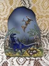 "Fenton Glass Fgs Exclusive Cobalt 7"" ""T-REX"" Iceberg Paperweight Le #9/12 - $325.00"