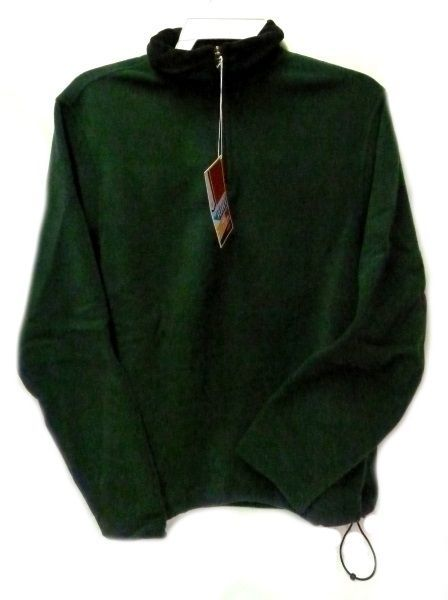 Fleece Jacket Old Navy Uniform Unisex Hunter Green 1/4 Zip Performance L New image 6