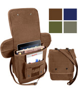 Heavy Canvas Tech Bag Military Map Case Shoulder Pack Tablet Carry Pouch - $14.99+