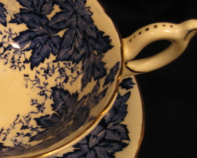 Primary image for Tea Cup & Saucer - Coalport - Blue Maple Leaves