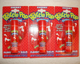 Lotta Luv Baby Bottle Pop Cherry Flavored Lip Balm Gloss 3 Pack Sealed - $4.98