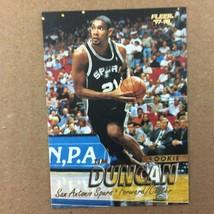 Tim Duncan 1997-98 Fleer Rookie Card #201 San Antonio Spurs  - $8.86