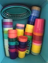 HUGE LOT Break Resistant Plastic Cups Stacking Tumbler Beverage Various ... - $54.23