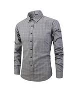 Yangxinyuan Men's Stripe & Plaid Cotton Long Sleeve Causal Shirts KC706-... - $18.05