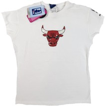 NBA Chicago Bulls Junior Women's Shirt MVP Baby Doll Tee Basketball T-Shirt NEW