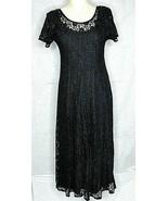 All That Jazz Black Lace Dress Shoulder Pads XS Long - $64.35
