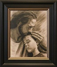 Artaccents Framed Picture of Jesus holding young girl,My Child by David ... - $46.43