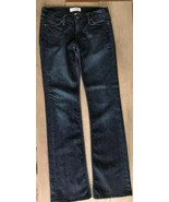Habitual Womens Jeans 27 x 35 Deep End Bootcut Stretch Made In USA Dark - $26.72