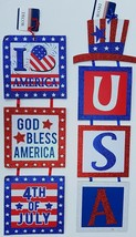 """Patriotic Hanging Wall DÉcor Sectioned Glitter 23.5"""" X 6"""" Select: Theme - $3.99"""