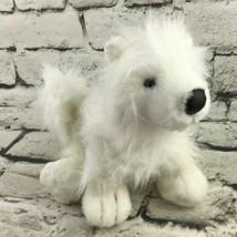 Ganz Webkinz Puppy Dog Plush White Shaggy Long Haired Stuffed Animal Sof... - $9.89