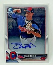 Shane Bieber 2018 Bowman Chrome Prospects Autograph Card Indians #BCPA-S... - $186.99