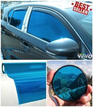 "2 Roll Pack 30"" x 60"" Transparent Vinyl Car Window Tinting UV Blocking Blue - $36.25"