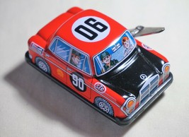 "Vintage Japan Tin Toy Sanko Metal 3"" Wind Up Auto Turn Benz Mercedes Car... - $14.80"