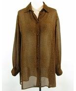 Designs Lane Bryant Size 14W 16W Sheer Thigh Length Leopard Cheetah Blou... - $24.99