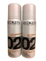 Redken Shine Flash 02 Glistening Mist 2.1 OZ set of 2 - $10.99