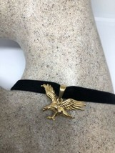 Vintage Golden Stainless Steel Eagle Necklace Pandant Choker - $27.71
