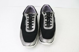 Cole Haan Womens Size 7 Zerogrand Grand.OS Lace Up Sneaker Shoes Black Silver - $78.11